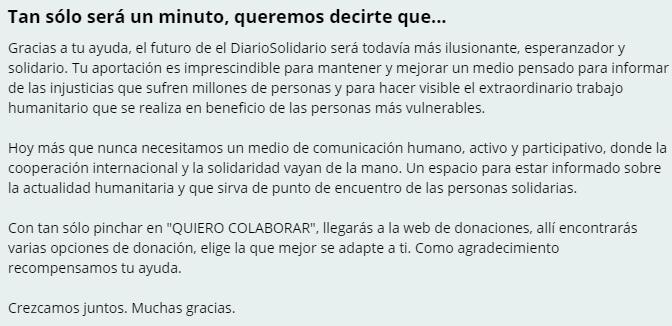 Instrucciones de donación y colaboración con el DiarioSoliario