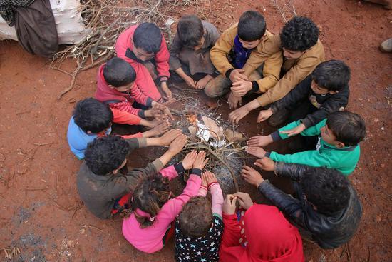 niños refugiados idlib