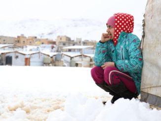 Refugiados sirios frío