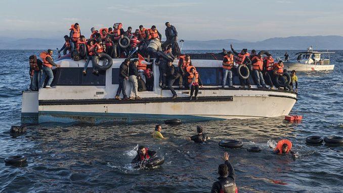 desembarco de refugiados en Grecia