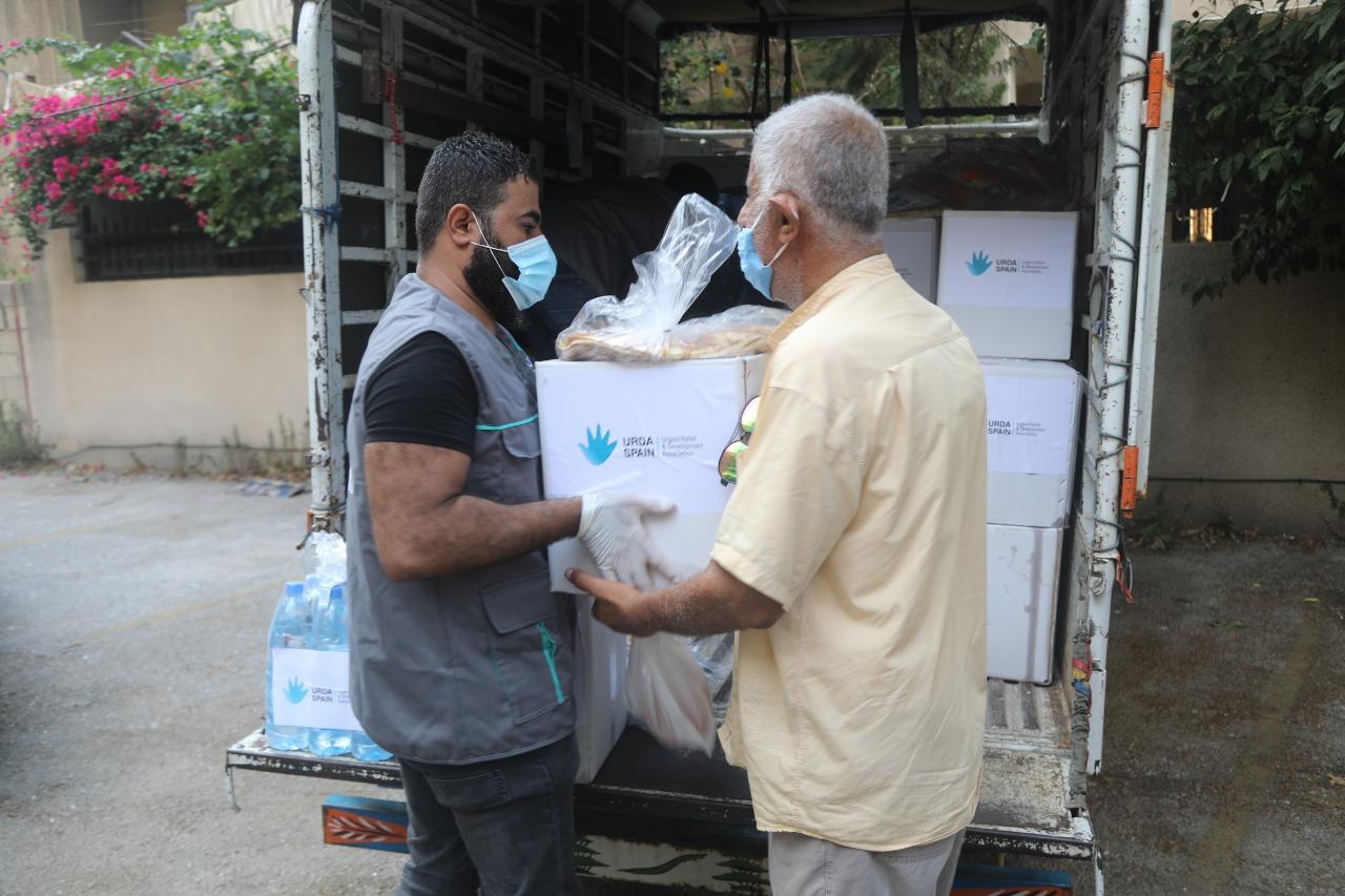 Beirut reparto de alimentos