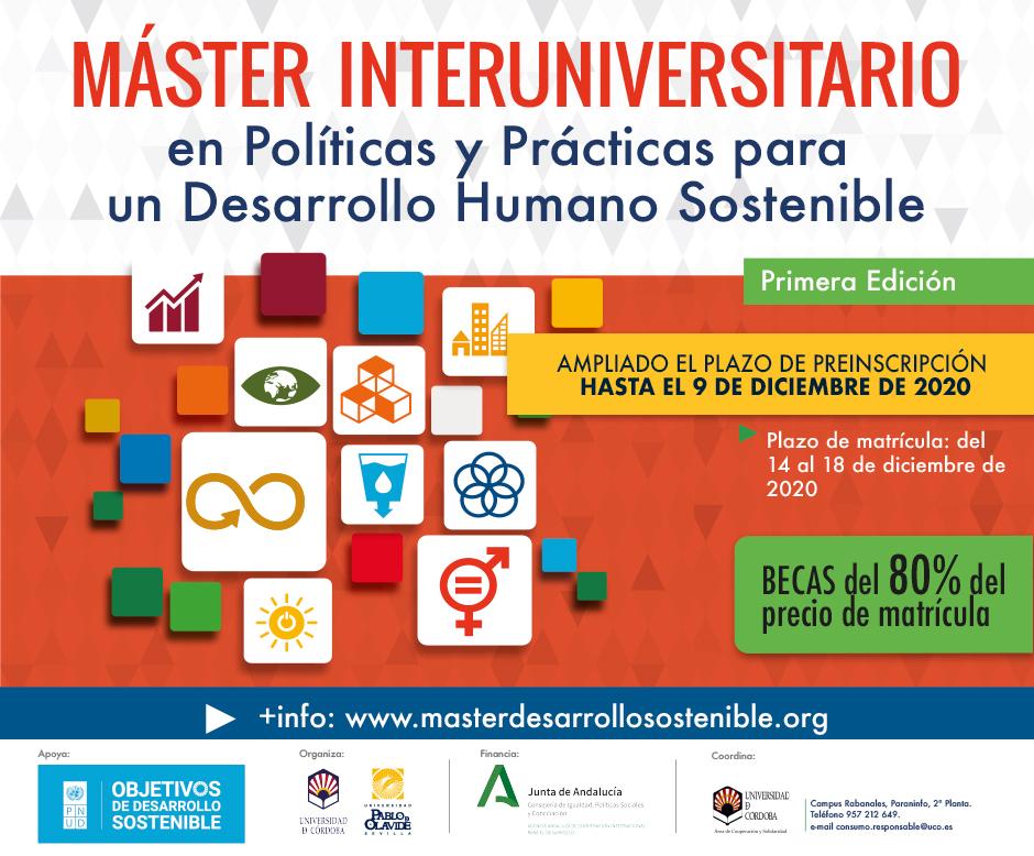 Máster Interuniversitario en Políticas y Prácticas para un Desarrollo Humano Sostenible