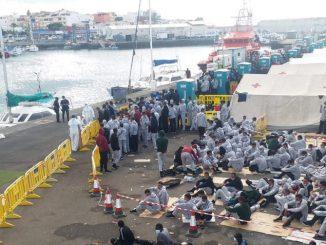 Migrantes en las Islas Canarias