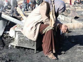 Incendio provocado en el campamento de Almania, Líbano