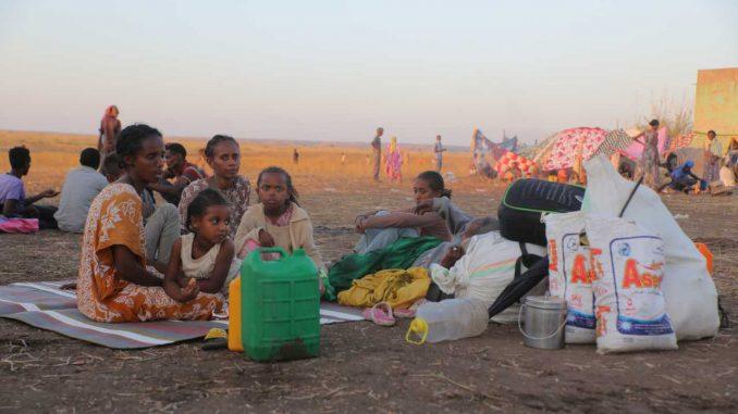 Refugiados y desplazados en Etiopía