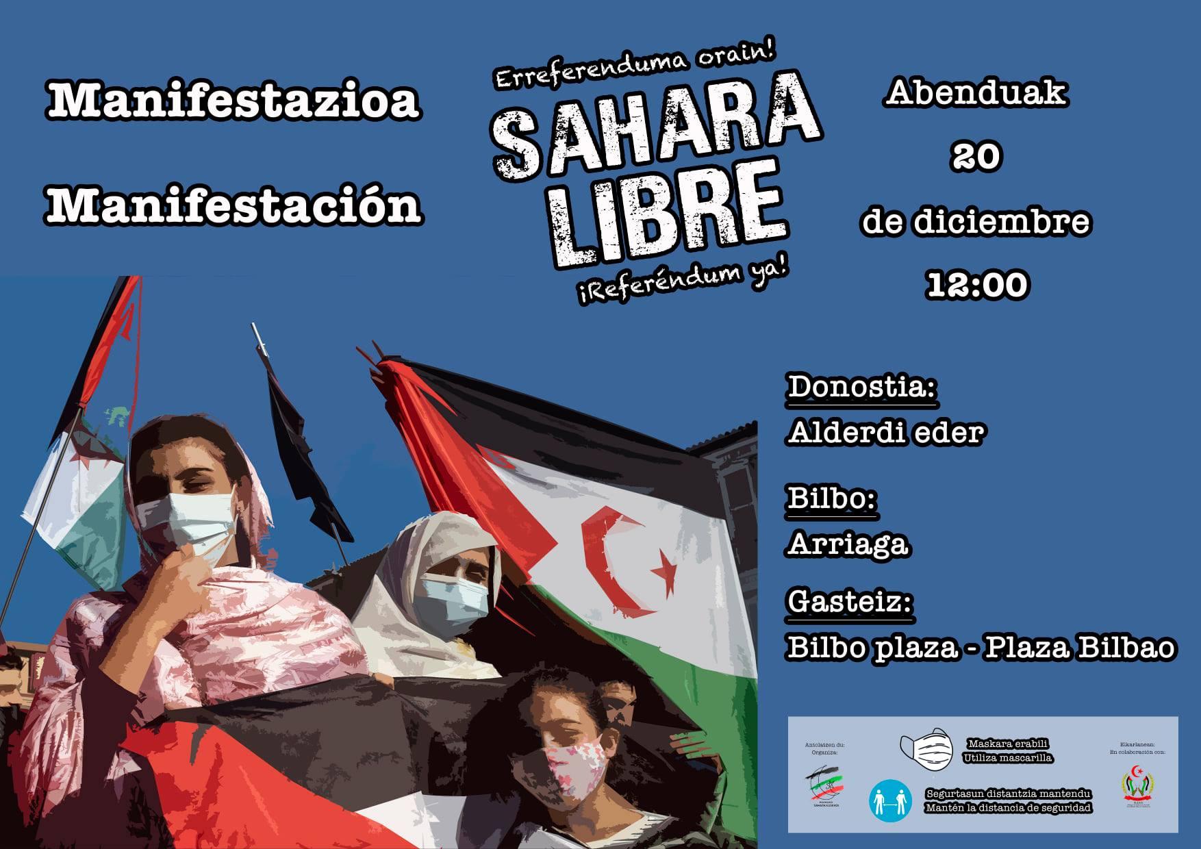 manifestación pueblo saharui