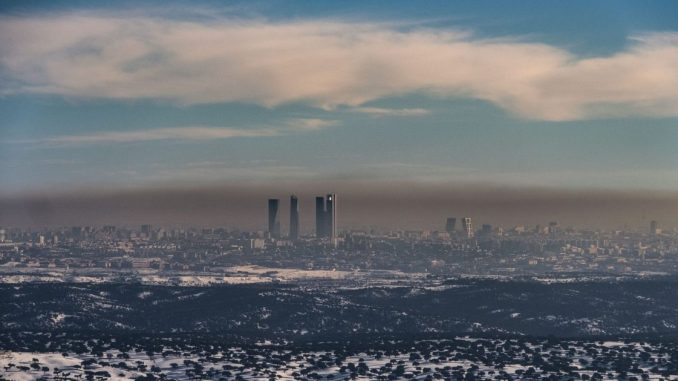 Madrid boina de contaminación