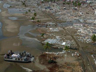 tsunami. Refugiado climático