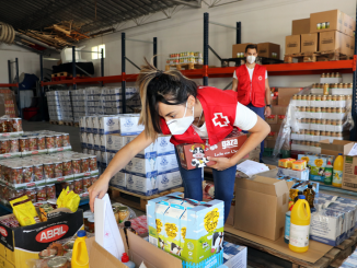 Familias vulnerables reparto Cruz Roja